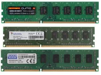Оперативная память Qumo QUM3U-8G1600C11, AD3U1600W8G11-S, GR1600D3V64L11-8G