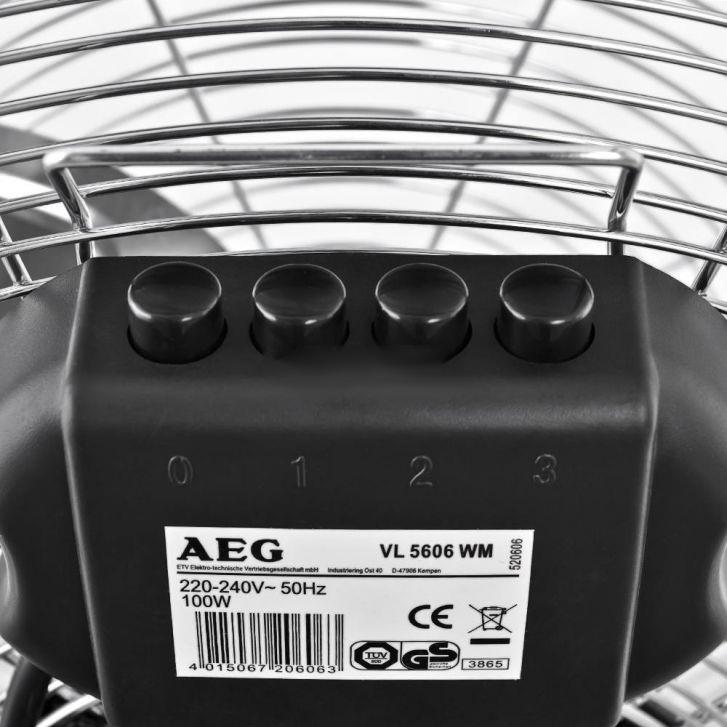 AEG VL 5606 WM Inox 40 см напольный вентилятор