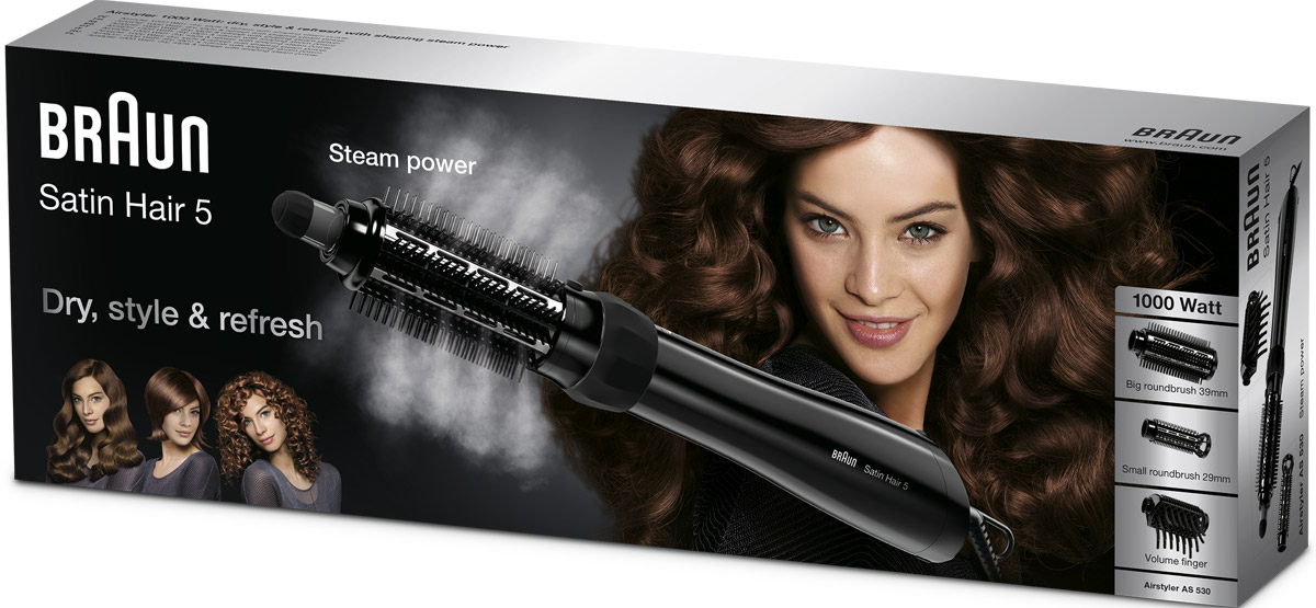 Braun Satin Hair 5 AS 530 MN, Black фен-щетка