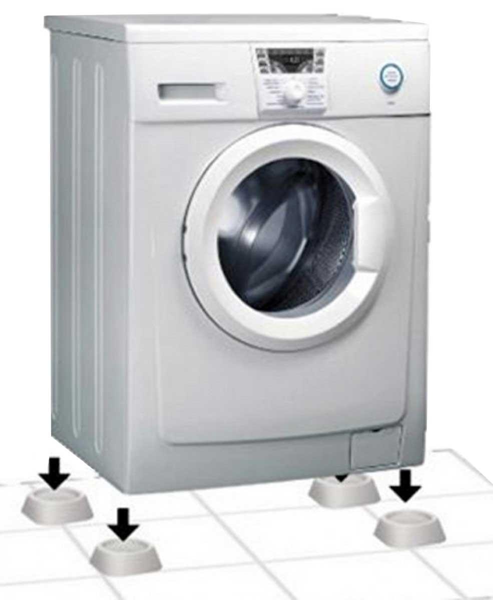 Подставки антивибрационные Ruges «Фикспро», для стиральной машины, цвет: белый, 4 шт
