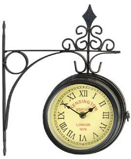 """Часы настенные """"Kensington"""" на кронштейне, цвет: черный. 17151"""