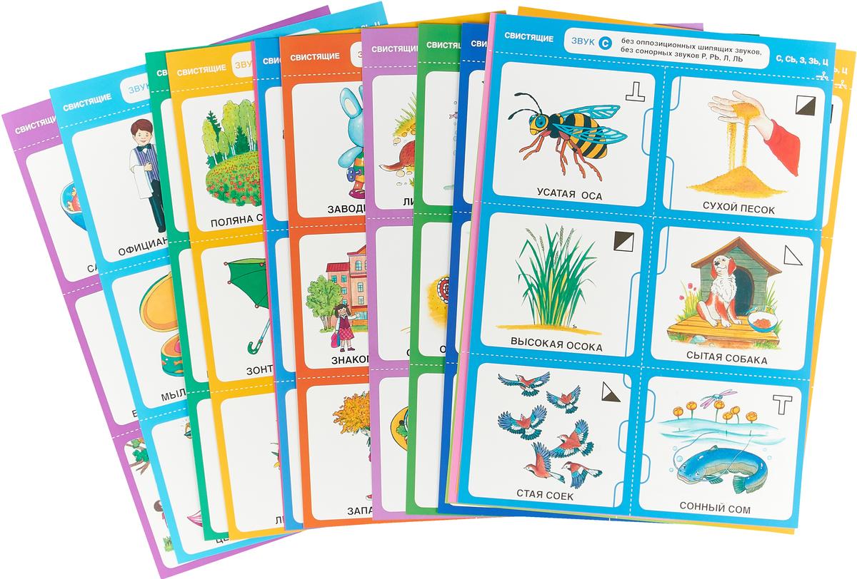 Дружу со звуками, говорю правильно! С, Сь, З, Зь, Ц. Комплект логопедических игровых карточек