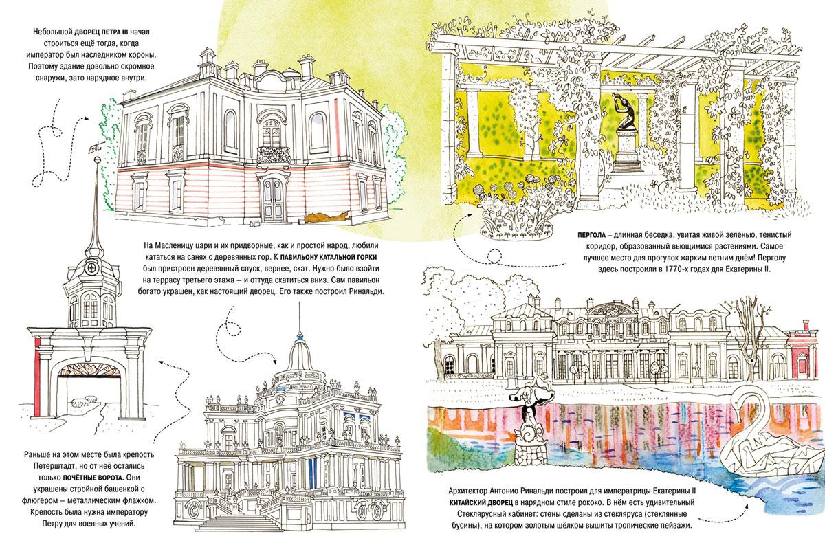 Усадьбы и парки Санкт-Петербурга. Раскраска-путеводитель