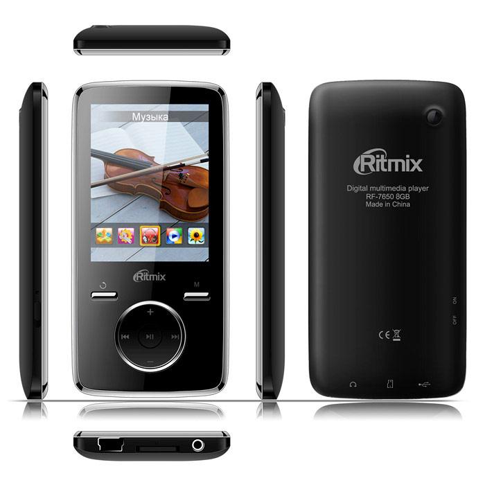Ritmix RF-7650 8GB, Black mp3-плеер