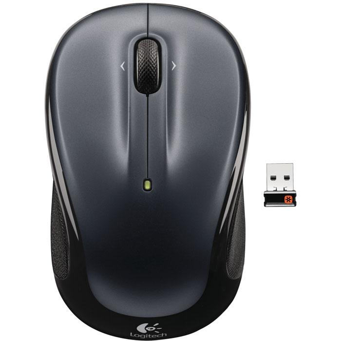 Logitech M325 Wireless Mouse, Dark Silver (910-002142)