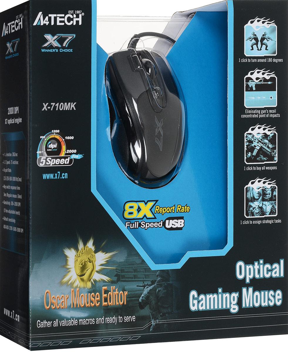 A4Tech X-710MK, Black мини-мышь