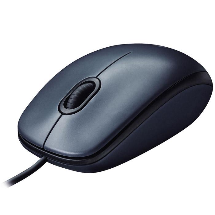 Logitech M90, Black Grey мышь (910-001794)
