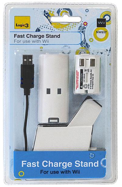 Станция быстрой зарядки + аккумулятор 1400 мАч для игровой системы Wii