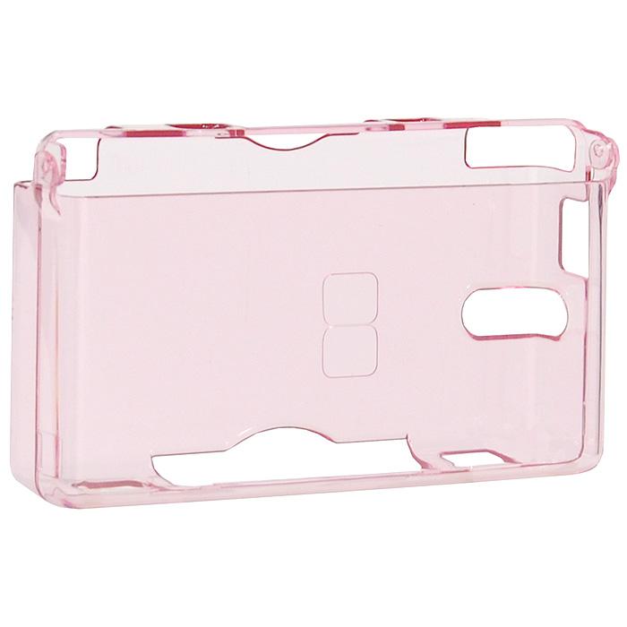 Защитный пластиковый корпус + наушники для Nintendo DS Lite (розовый)