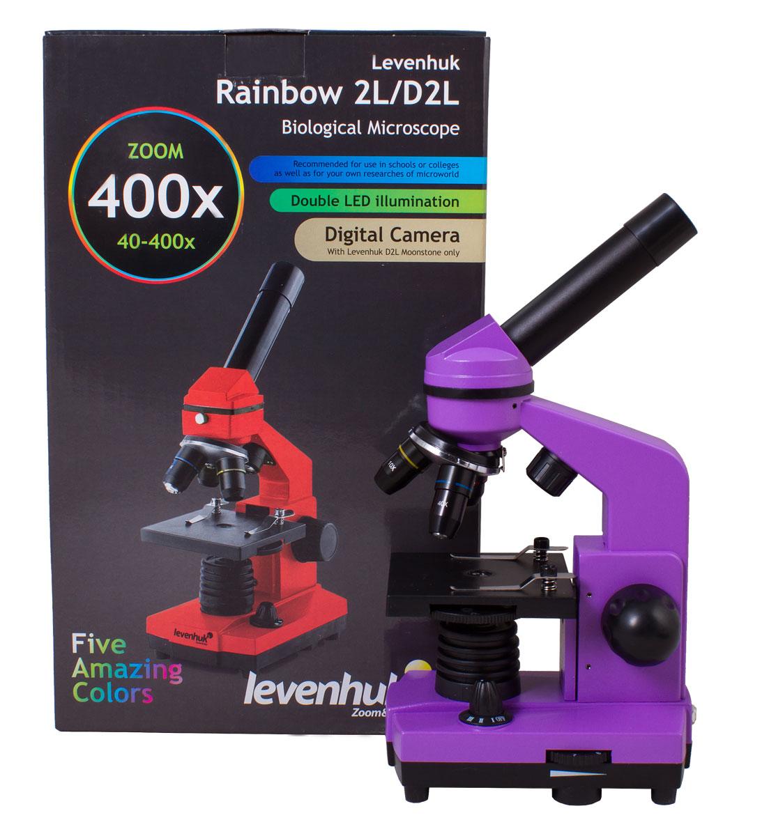 Levenhuk Rainbow 2L, Amethyst микроскоп
