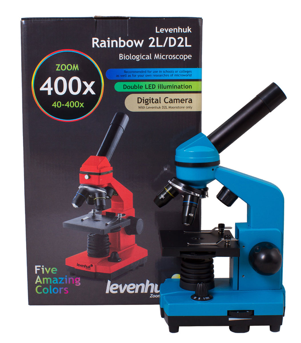 Levenhuk Rainbow 2L, Azure микроскоп