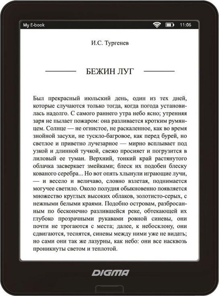 Digma X600, Black электронная книга