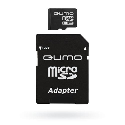 QUMO microSDHC Class 6 16GB + адаптер