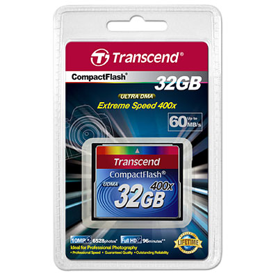 Transcend Compact Flash 400X 32GB карта памяти