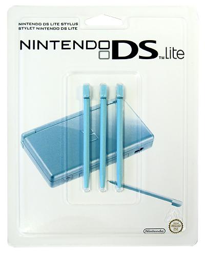Стилус для Nintendo DS Lite бирюзового цвета (комплект из 3 шт.)