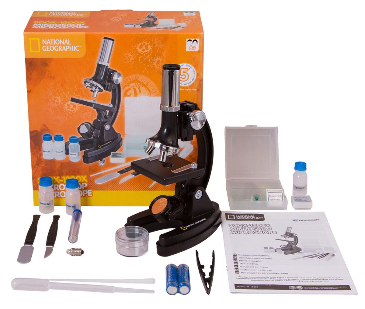 Bresser National Geographic 300–1200x микроскоп