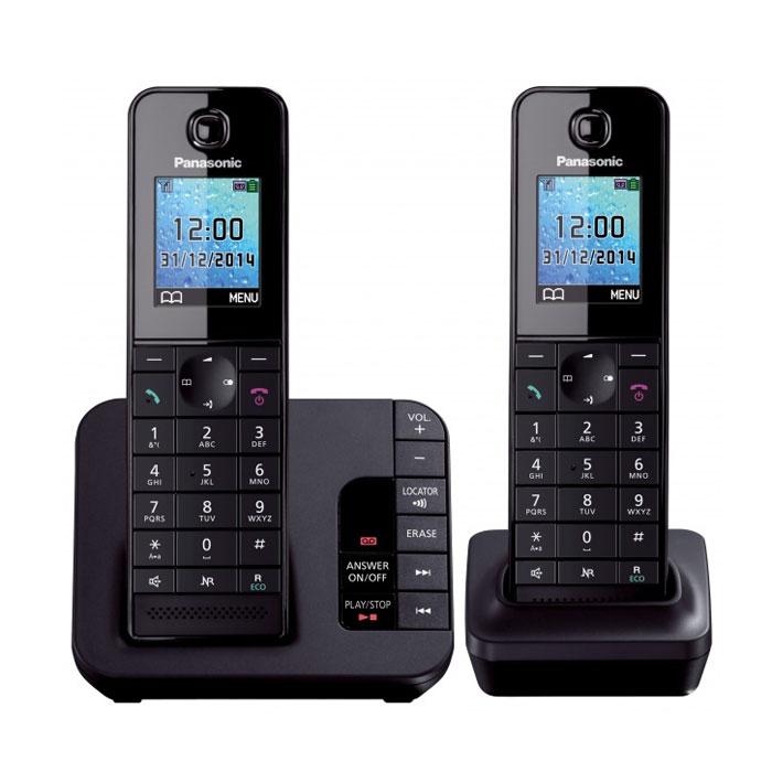 Panasonic KX-TGH222 RUB, Black DECT-телефон