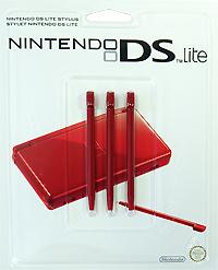 Стилус для Nintendo DS Lite красного цвета (комплект из 3 шт.)
